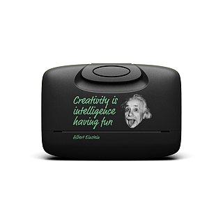 Capsul Case - Basic Black Einstein Quote