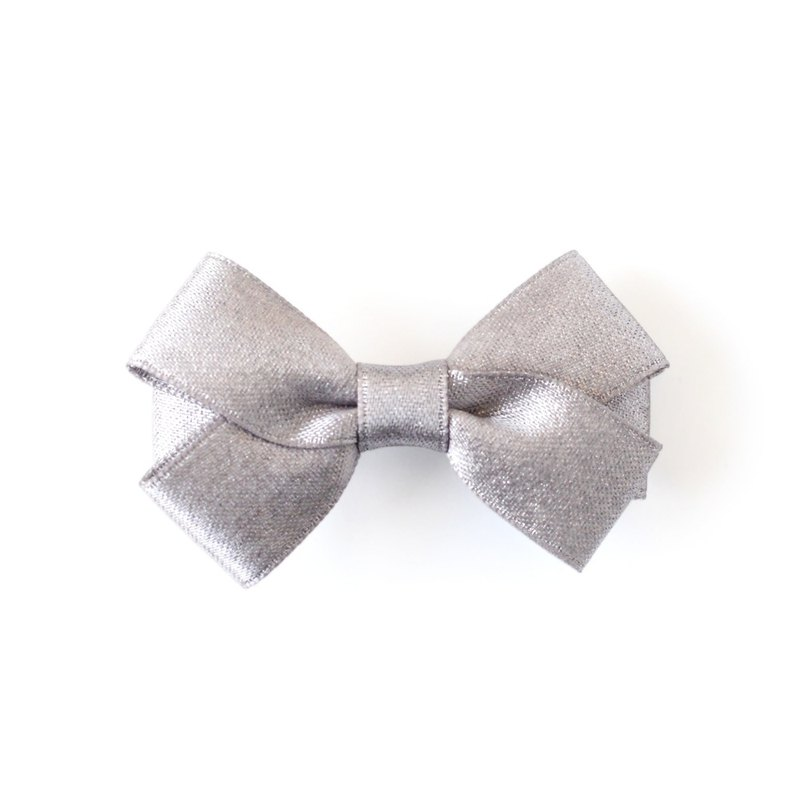 US Joli Sophie glitter small bow hairpin - gray JSHCLBGGS