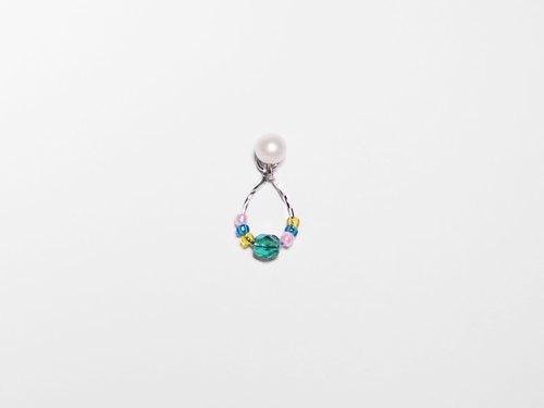 Beads Series | Colorful leaf pearl ear acupuncture