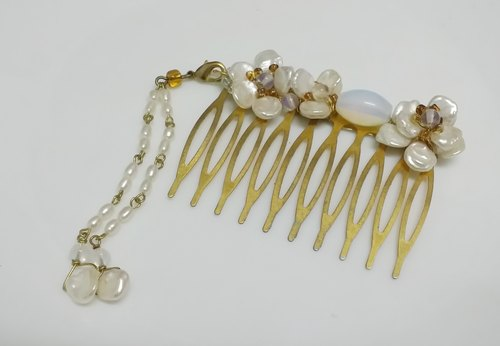 Tong Ling Tong Ling ~ ornaments set record set decoration note pull Tianhua ~} {Li Xue natural pearl flower comb