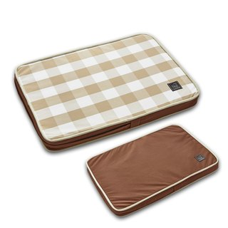 Lifeapp Pet Relief Sleeping Pad Large Plaid---S (Brown White) W65 x D45 x H5 cm