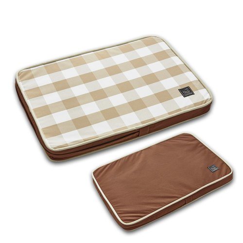 """Lifeapp"" pet slow sleep pillow Ⅱ S (brown white grid) W65 x D45 x H5 cm"