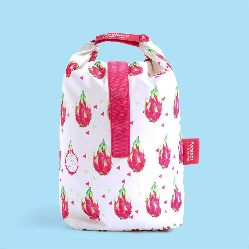 Good day | Pockeat green food bag (big food bag) - dragon fruit
