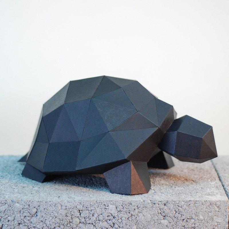 DIY手作3D紙模型擺飾 小動物系列 -小烏龜 (4色可選)
