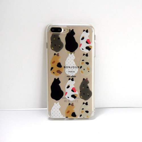 Cat small back phone shell