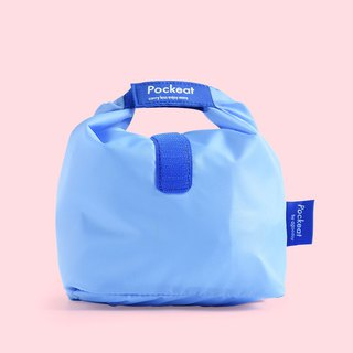 Good day | Pockeat green food bag (small food bag) - Monday blue