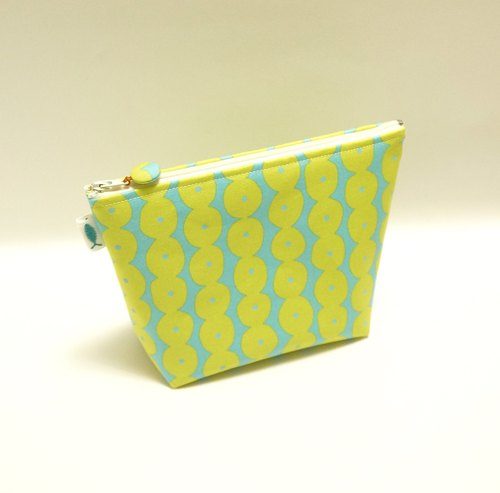 / A string - blue and green / / cosmetic bag / travel bag / small package