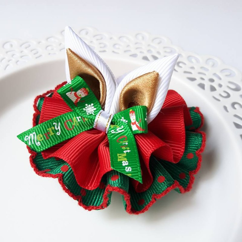 Colorful Christmas rabbit ears