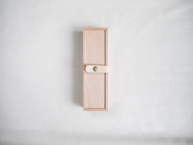 Wooden pen box gift stationery storage