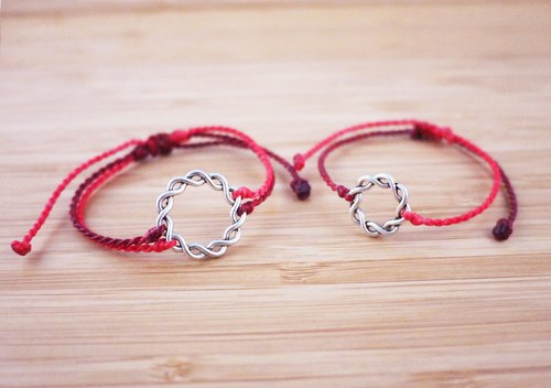 [Fate] Silk wax line braided bracelet [double purchase]