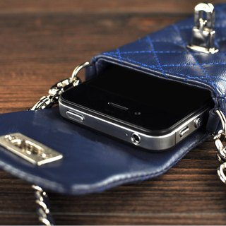 STORYLEATHER made (APPLE SAMSUNG HTC SONY LG) Style S3 straight bag Ling Check leather case