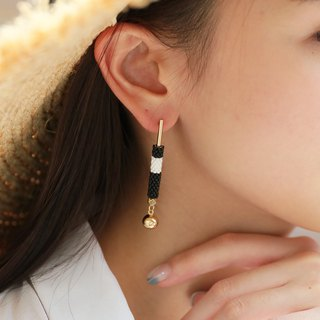 Black - Lavish Drop Earrings