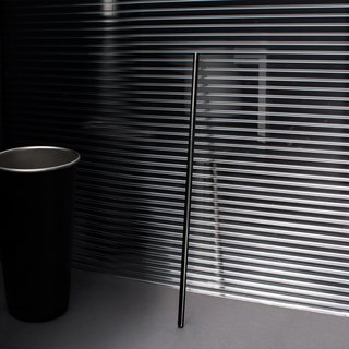 BLACHOICE titanium black stainless steel straw