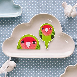 Rolia's Lovebird Peach Green Parrot Waterproof Sticker