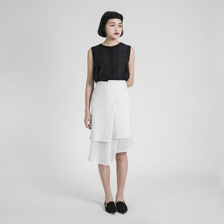 Chirico Kiri 诃 pleated skirt _8SF231_ white
