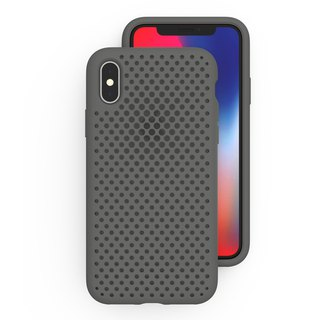 AndMesh iPhone X Japan QQ outlets soft crash protection - Gray (4571384957649)