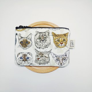 [Emperor driving - white] Coin purse clutch bag with zipper bag
