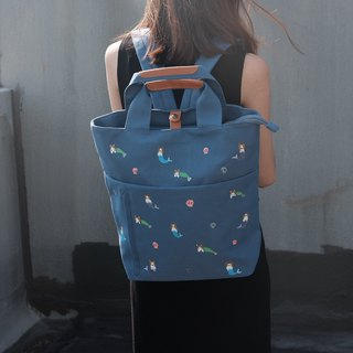 Mermaid Corgi Zipper Dumpling Backpack