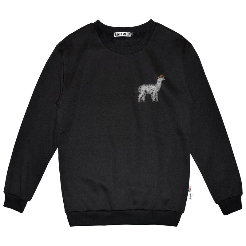 British Fashion Brand -Baker Street- Alpaca Parade Printed Sweatshirt