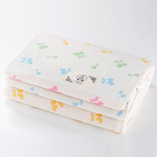 [Made in Japan Sanhe Kapok] Six Gauze Cloths - Colorful Cherry L