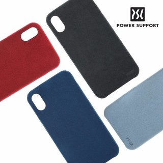 POWER SUPPORT iPhone X UltraSuede Air Jacket Leather Case