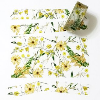 Masking Tape Golden Flowers