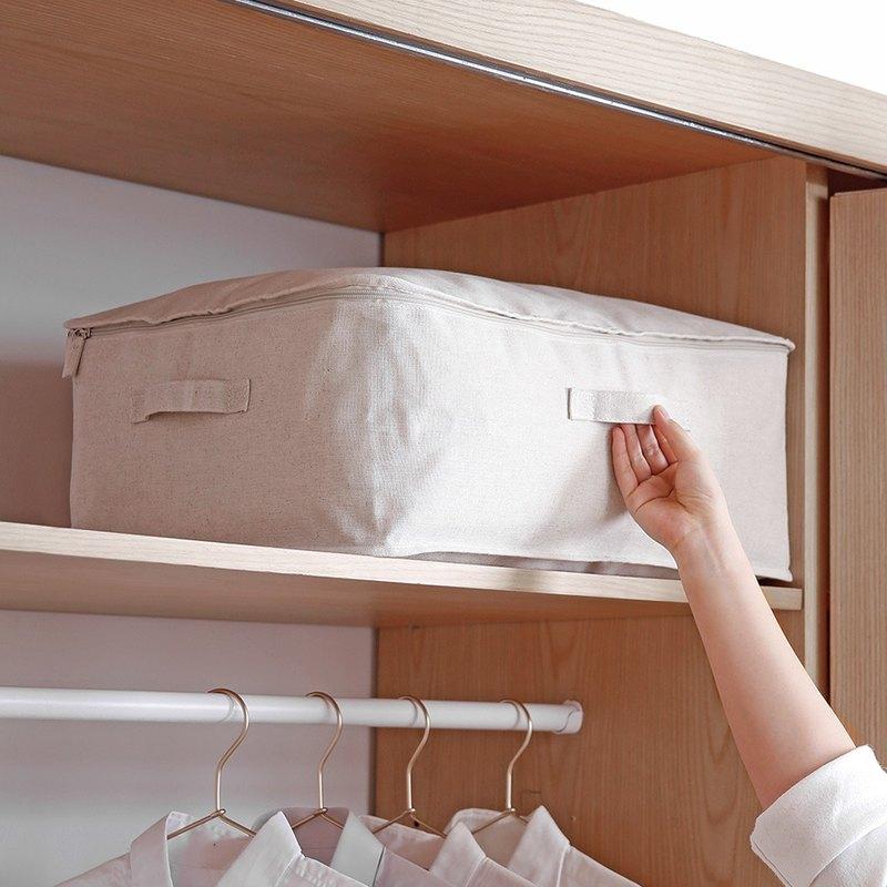 棉麻大容量可水洗防塵衣物棉被收納袋