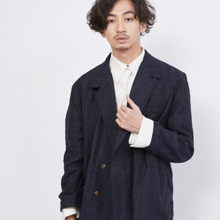 Double-sided irregular fish mouth coat_Peony blue jacquard_Fair trade