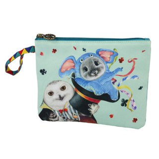 [Henry House Family] Circus Waterproof Cosmetic Bag - Magic Hat