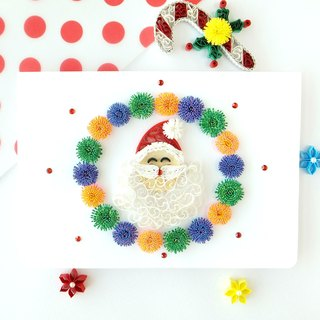 Hand made decorative cards-Santa wreath