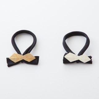 Kika line plate pony diamond ribbon / Plate of the hairline processed ribbon type Hair elastic