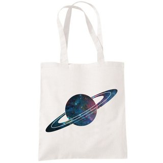 Saturn Saturn Galaxy to the Milky Way star canvas Art Shopping Bag Shoulder Tote Bag - beige lovers Valentine gift