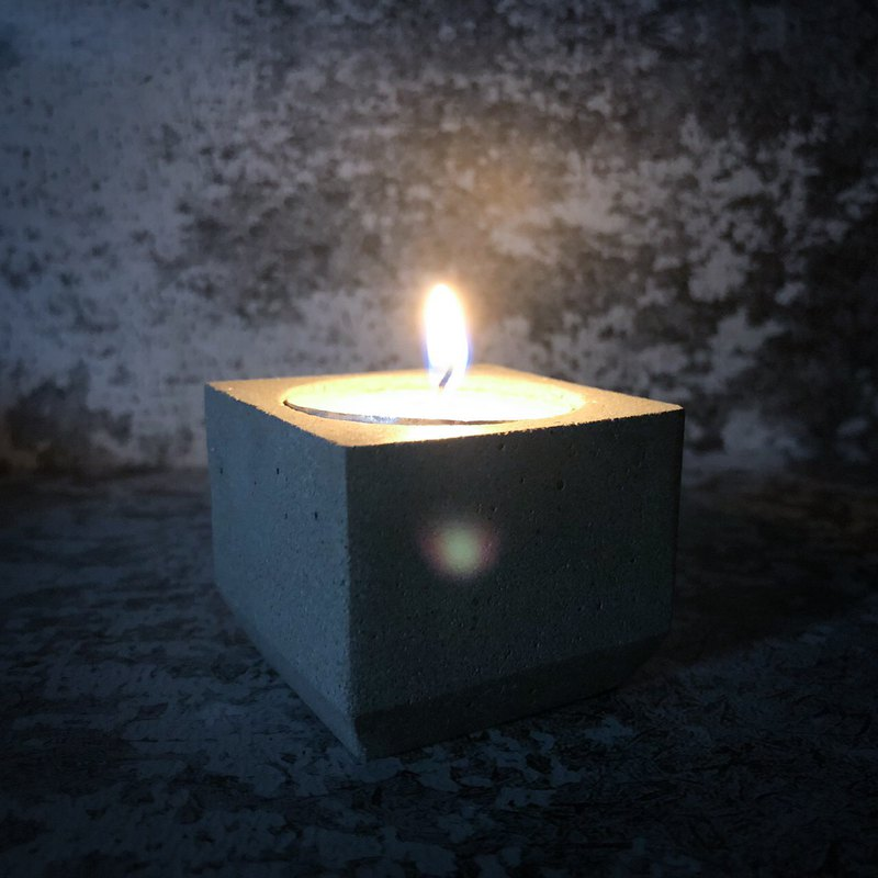 Cement minimalist small candle holder