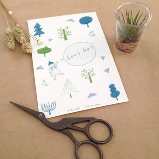 DIY from scrapbooking paper - go to the forest together