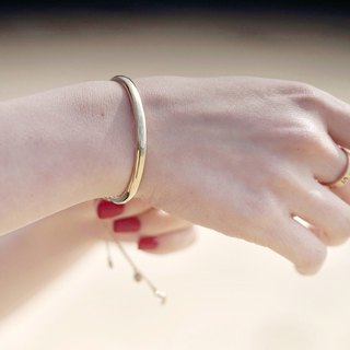 LOVE true love series simple sterling silver plated 18K bracelet