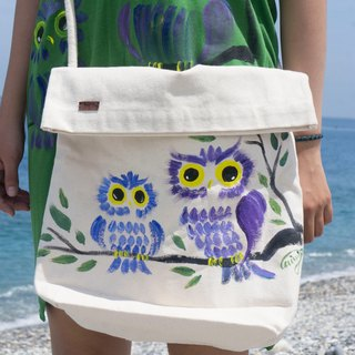 Painted owl Winwing painted side backpack