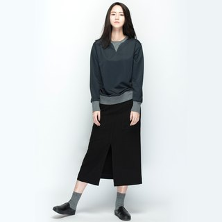 hao Gray Crew Neck Sweatershirt gray long-sleeved sweater