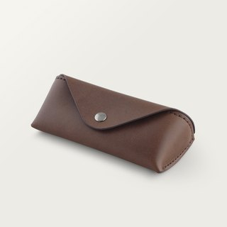 Classic Triangle Glasses Case - Dark Brown