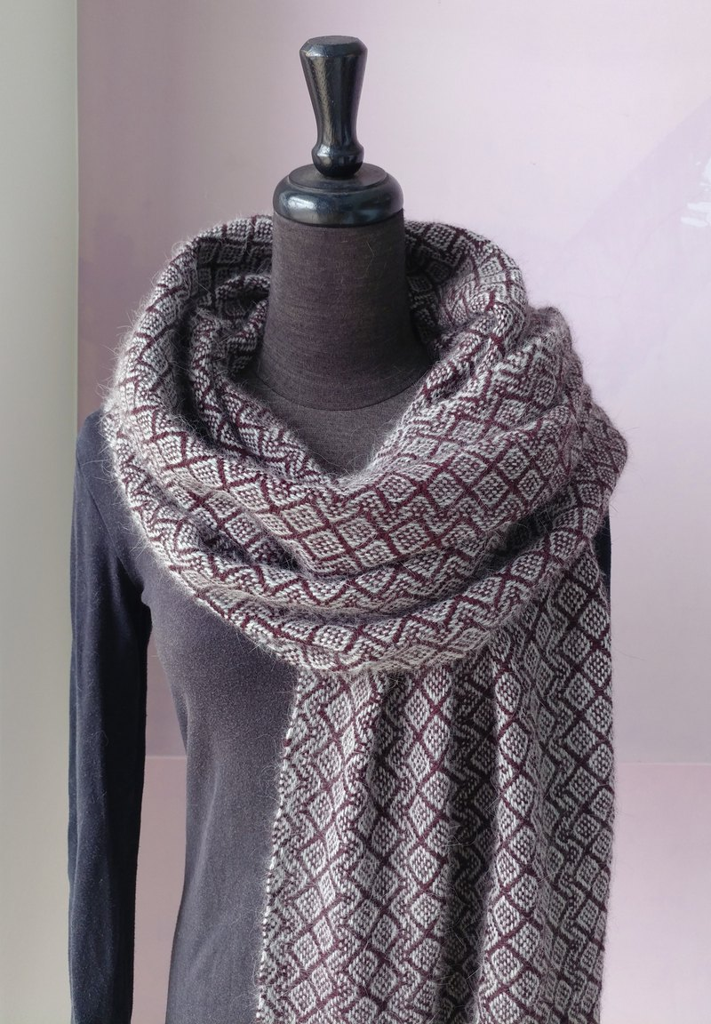 Handwoven by Carina | Winter Mink Shawl