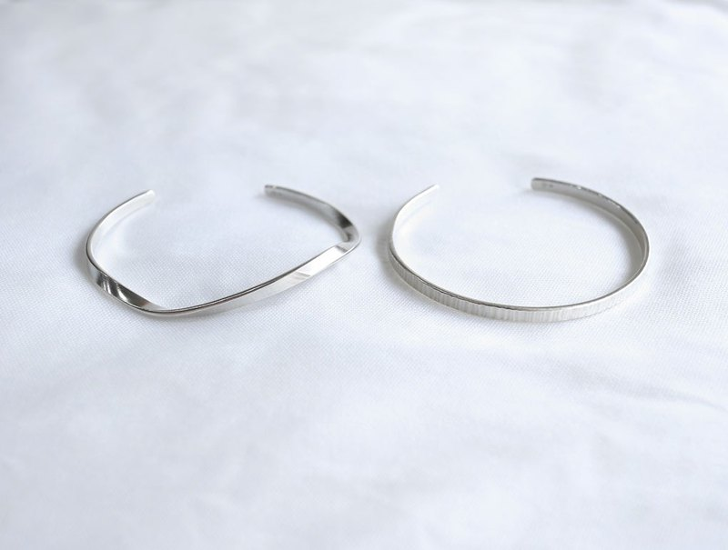 Ni.kou friendship double bracelet - sterling silver (12 models)