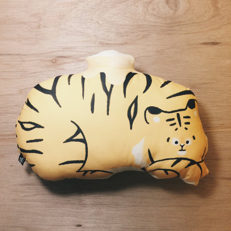 FurryZoo Tiger Cream Pillow / Napping Pillow