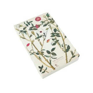 JIUKOUSHAN Nine-Mountain Mountain 320Pages Herbal Series Naked White Paper Notebook Wild Rose