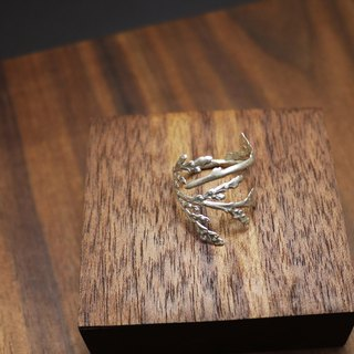 Silver Cypress Leaf - 925 Silver Ring