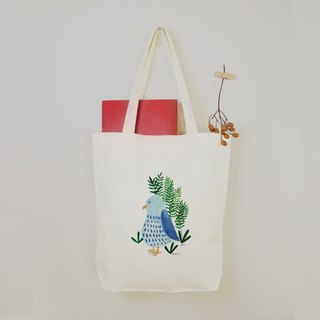 [Animal Planet] Happy Bluebird Canvas Tote Bag