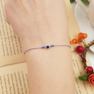 925 sterling silver silver diamond blue drill / red line red rope bracelet sky blue treasure blue