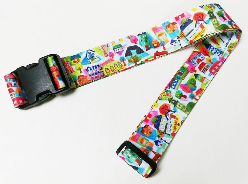 LB15: colorful design double-sided printing luggage belt