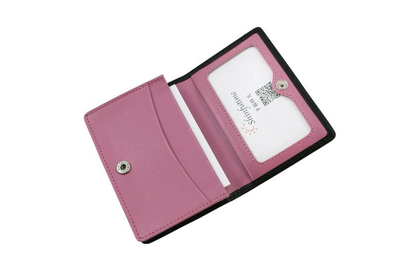 LAPELI │ Mixed color card holder Black / Pink