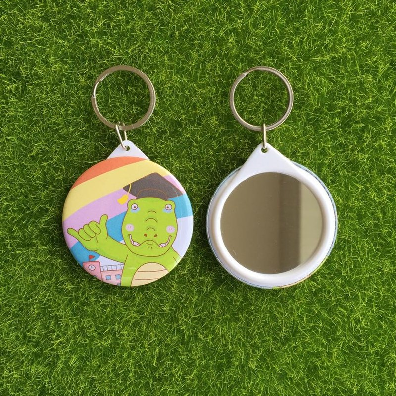 Hook and say who will not forget who mirror key ring – G0023