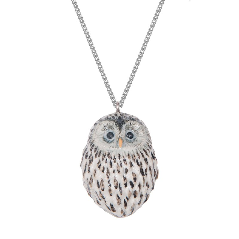 "And Mary Baby Snow Owl Necklace | 18""/22"" 