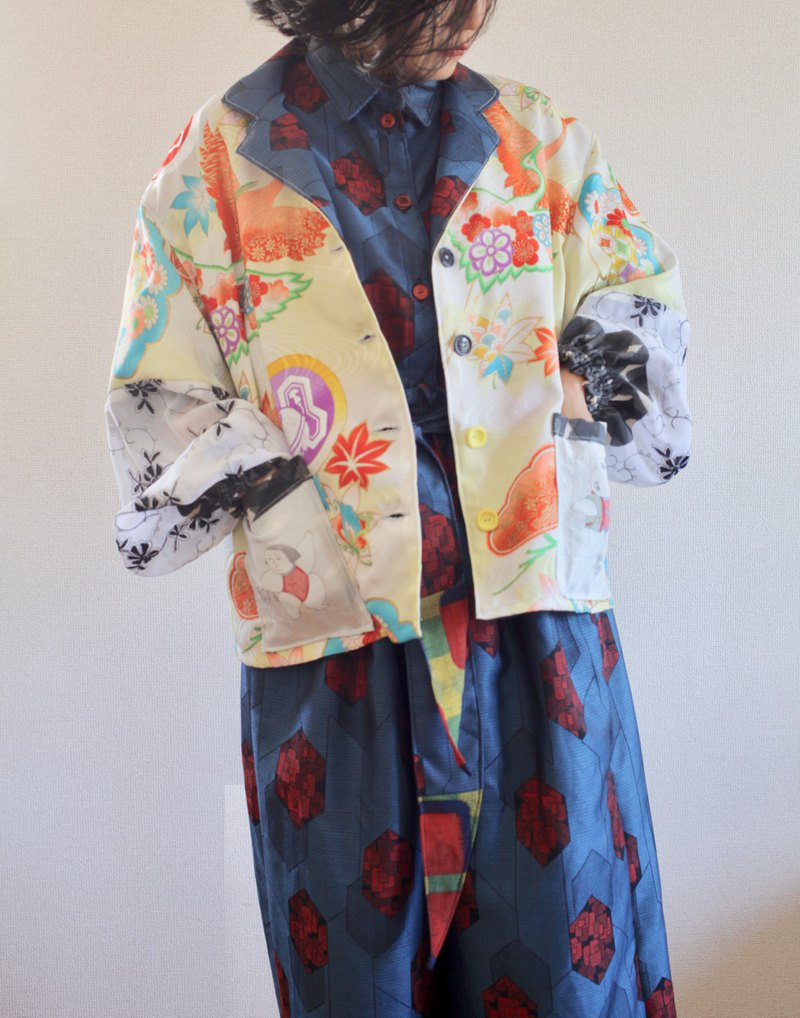 Pop & Colorful Japanese Kimono Jacket
